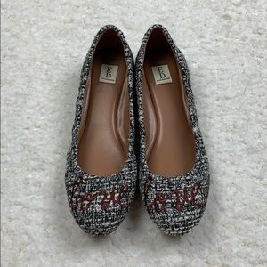 ED Ellen Degeneres Tweed Love Flats 7.5